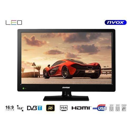 Telewizor LED 15.6'' z USB HDMI VGA DVB-T MPEG-4/2 12V 230V, TVNVX15C15C510A (5594160)