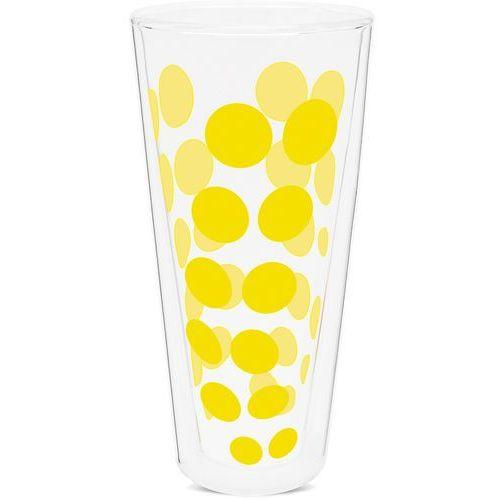 Zak! designs Szklanka izolowana wysoka 350ml, żółte kropki (2005-n310) (0707226844219)