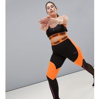 plus exclusive to asos panelled legging in black and orange - orange, Puma