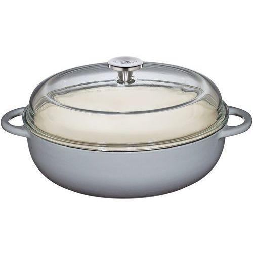 Brytfanna żeliwna ze szklaną pokrywą provence kuchenprofi 3,25 litra (ku-0402551928) marki Küchenprofi