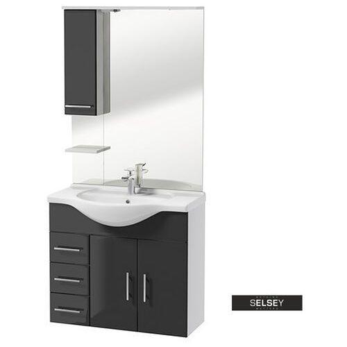 Selsey zestaw mebli łazienkowych cranston biały / grafit (5903025424439)
