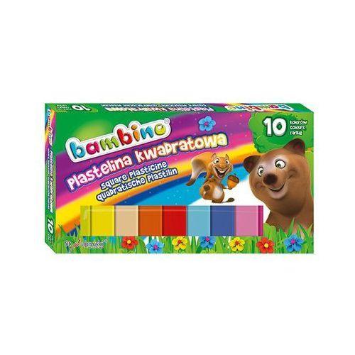 Plastelina 10 kolorów kwadratowa Bambino