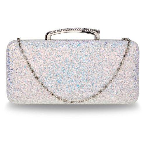 Mieniąca brokatowa torebka wizytowa - biały ||niebieski ||różowy marki Wielka brytania