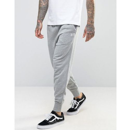 Original penguin  cuffed jogger slim fit small logo in grey - grey