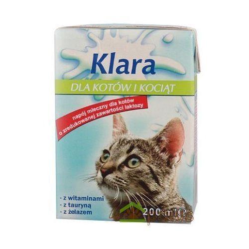 Klara Mleko dla kotów i kociąt kartonik 200ml. Najniższe ceny, najlepsze promocje w sklepach, opinie.