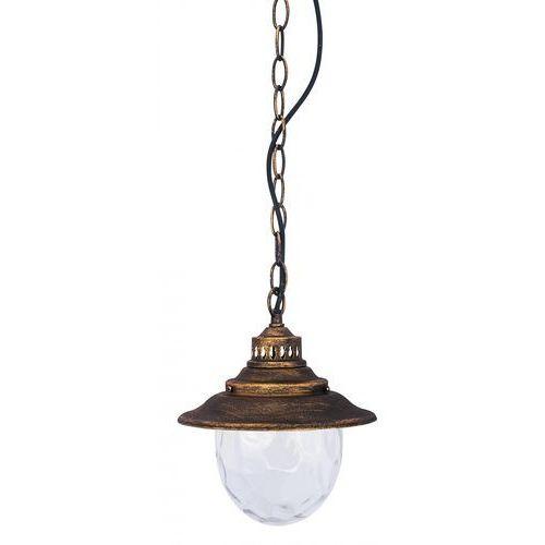 Lampa wisząca zewnętrzna ogrodowa Rabalux Barcelona 1x60W E27 IP43 antyczne złoto 8678