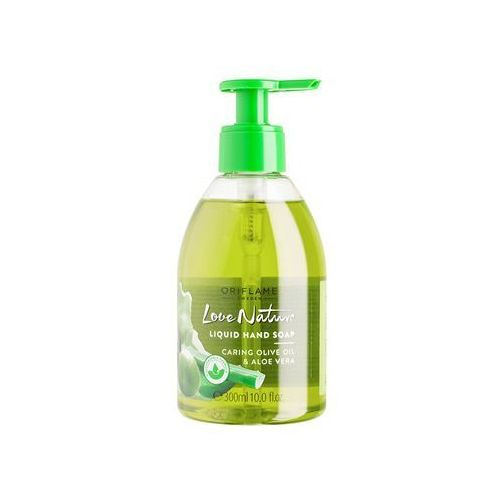 Oriflame Love Nature mydło do rąk w płynie (CAring Olive Oil and Aloe Vera) 300 ml (2800012938500)