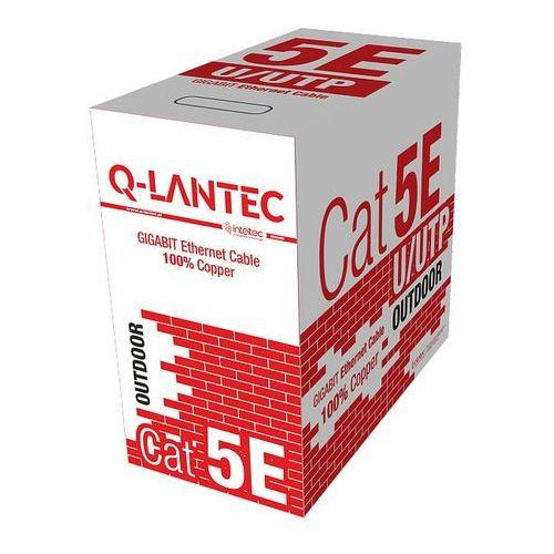 Q-lantec Skrętka komputerowa U/UTP kat. 5e 4PR zewnętrzna, czarna sucha Alantec