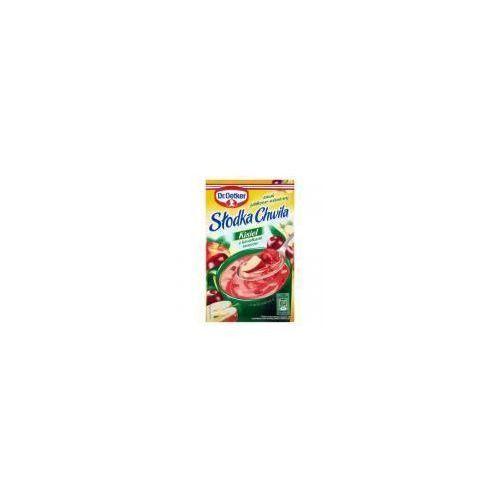 Kisiel z kawałkami owoców smak jabłkowo-wiśniowy słodka chwila 31,5 g  marki Dr. oetker