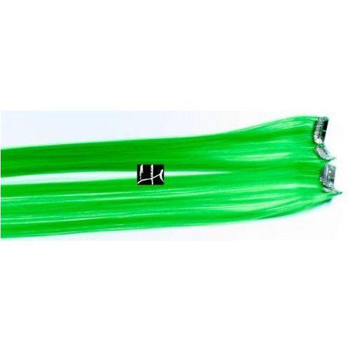 Włosy na zgrzewy syntetyczne - Kolor: #green - 20 pasm