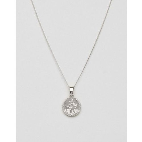 st christopher mini medallion necklace in silver - silver marki Chained & able