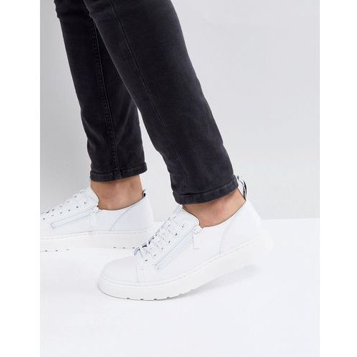 dante 6-eye shoes in white leather - white, Dr martens