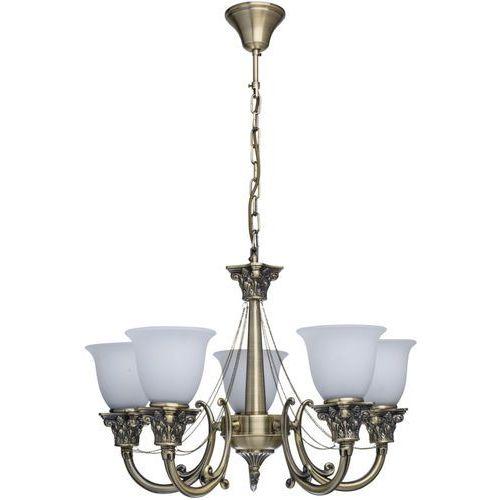 Lampa wisząca mosiądz antyczny i białe klosze retro MW-LIGHT Classic (347019505)