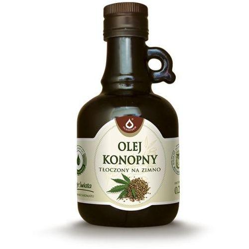 Olej konopny 250ml tłoczony na zimno marki Oleofarm