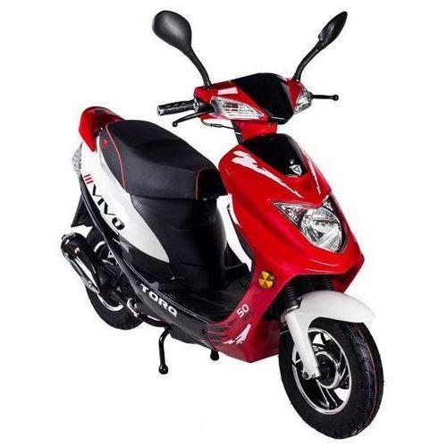 Motorower TORQ VIVO Czarno-Czerwono-Biały