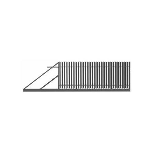 Polbram Brama przesuwna z automatem negros 400 x 150 cm lewa