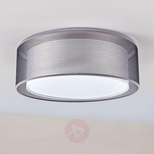 Lampa sufitowa nica z podwójnym abażurem, szara marki Lindby