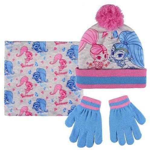 Komplet: czapka jesienna / zimowa, komin i rękawiczki shimmer i shine marki Cerda