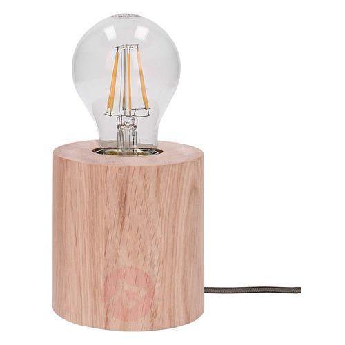 Spot-light Lampa stołowa trongo dąb olejowany różne kolory kabla e27 60w (5901602341292)