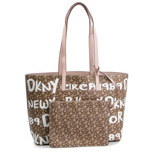 Dkny Torebka - bifold wallet r84a4757 chino logo-iconic blush jcl
