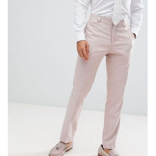 Noak Slim Wedding Suit Trousers In Crosshatch - Purple