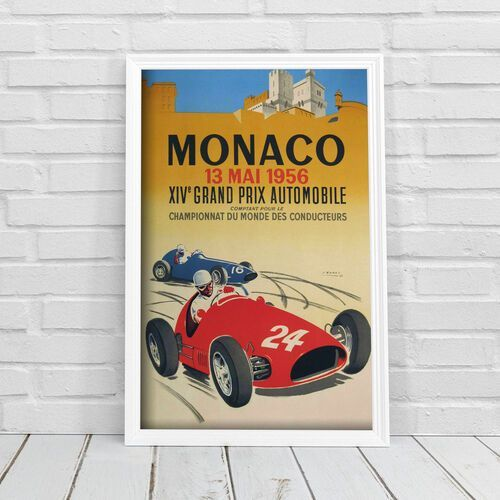Plakaty w stylu retro Plakaty w stylu retro Grand Prix Monako XIV Automobile