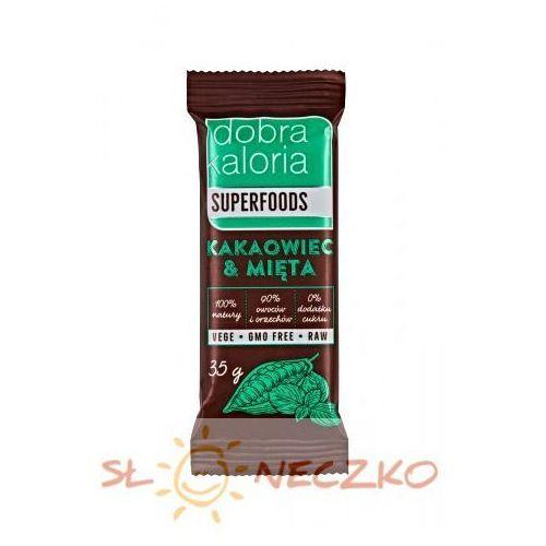 Baton owocowy kakaowiec & mięta 35g marki Dobra kaloria
