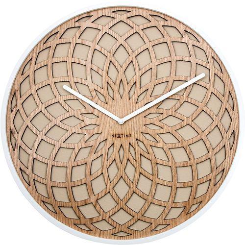 Nextime Zegar ścienny sun 35 cm, beżowy (3150 be)