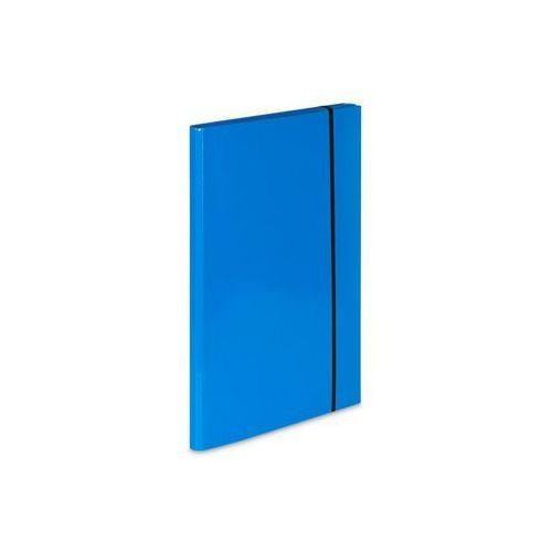 Teczka skrzydłowa z gumką caribic a4 342/19 jasna niebieska marki Vaupe