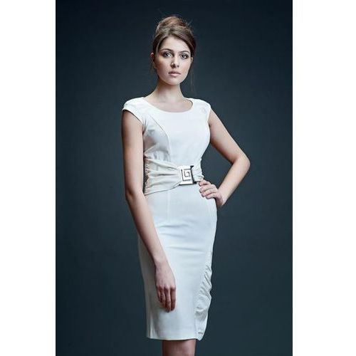 Sukienka model bianka ecru marki Vera fashion