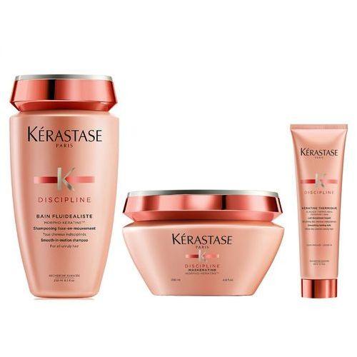 Kerastase fluidealiste   zestaw dyscyplinujący włosy: kąpiel 250ml + maska 200ml + mleczko termiczne 150ml