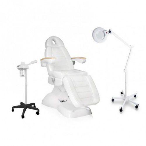Zestaw Kosmetyczny Fotel Elektryczny LUX + Wapozon JY10 + Lampa Lupa R6