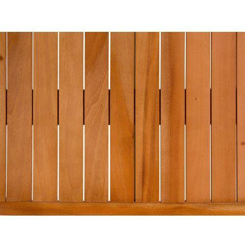 Beliani Zestaw ogrodowy mahoniowy blat 180 cm 6-osobowy białe krzesła grosseto (4260586358957)