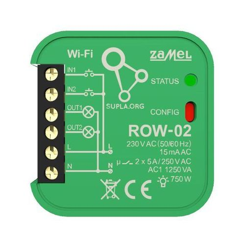 Odbiornik WI-FI ROW-02 2-kierunkowy SUPLA ZAMEL, SPL10000003