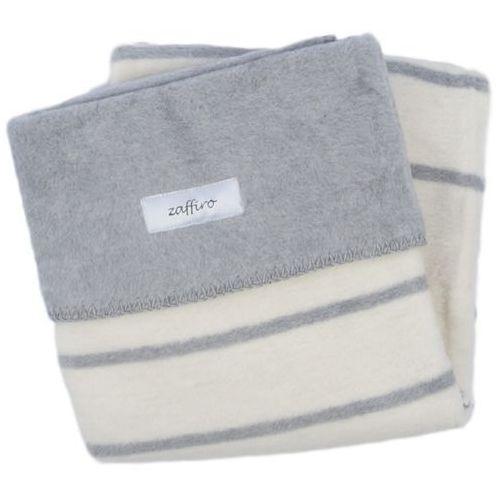 Womar  koc 100% bawełna 75x100 paski biały/szary- wysyłamy do 18:30