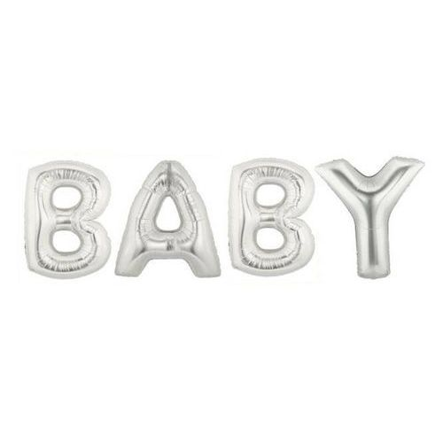Napis Baby z balonów foliowych - 1 kpl. (8714572292818)