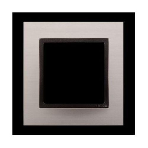 Kontakt simon Ramka 1-krotna nature-metal, satynowy mrok, ip20/ip44* (*ip44-należy zastosować uszczelkę ramki dun1)