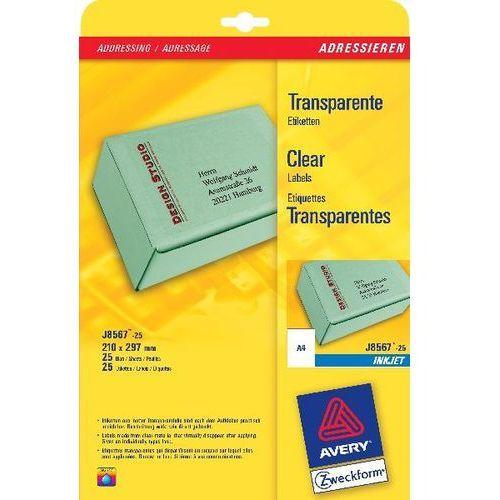Etykiety adresowe AVERY A4 (do paczek i przesyłek) do drukarek atramentowych - X06548, NB-1992