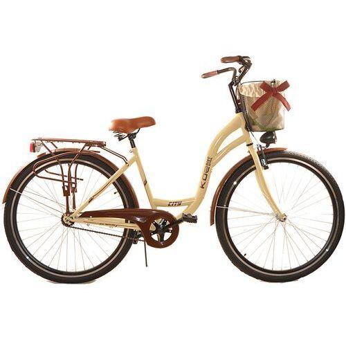 KOZBIKE (K23) Rower miejski damski Kozbike 28 kremowy