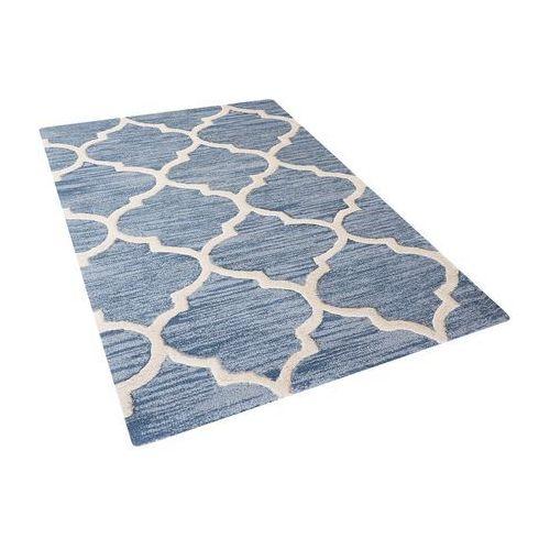 Dywan wełniany 80 x 150 cm niebieski YALOVA