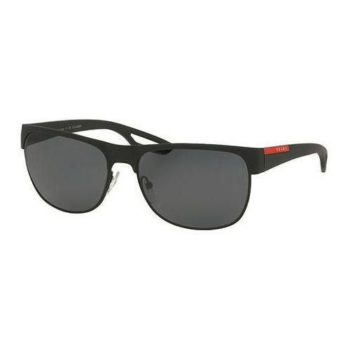 Prada linea rossa Okulary słoneczne ps57qs lj silver polarized dg05z1