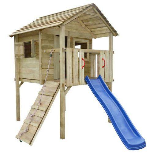 Vidaxl plac zabaw z drabiną i zjeżdżalnią 360x255x295 cm drewno