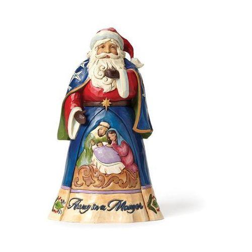 Mikołaj z Szopką - Gdzieś daleko od szopki narodziło się dziecię (Away In A Manger) 4046758 Jim Shore figurka ozdoba świąteczna