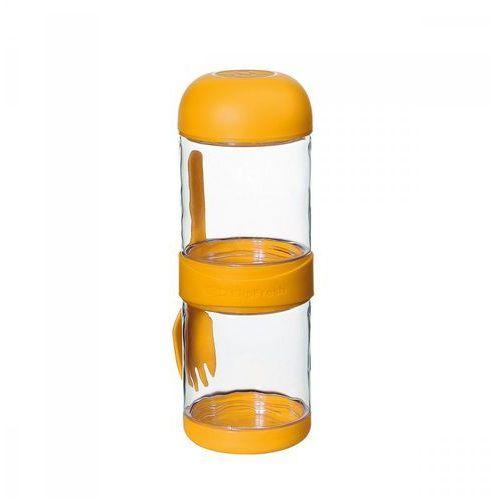 Podwójne pudełko na lunch z widelcem 2x330 ml żółte marki Cilio