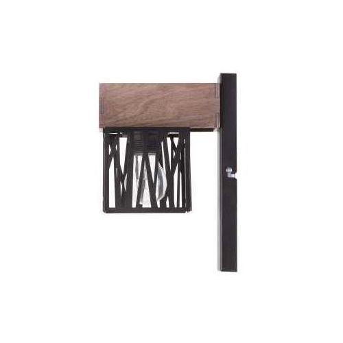 Kinkiet LAMPA ścienna DALI 31485 Sigma metalowa OPRAWA hygge drewno czarna