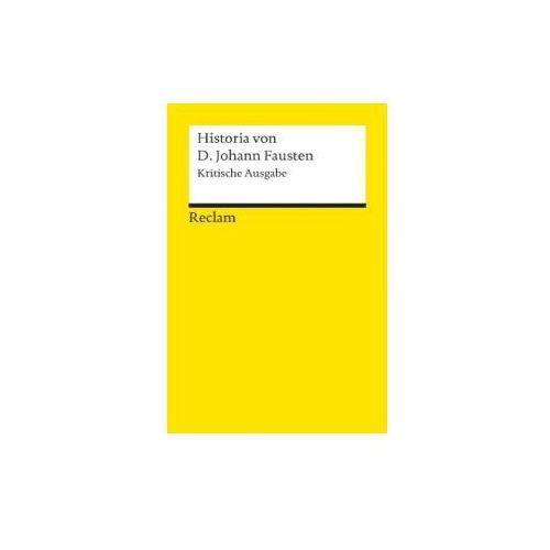 Historia von D. Johann Fausten, Krit. Ausg. Füssel, Stephan (9783150015162)