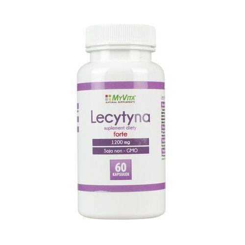 Lecytyna sojowa forte NON-GMO lecithin 1200 mg 60 kapsułek MyVita