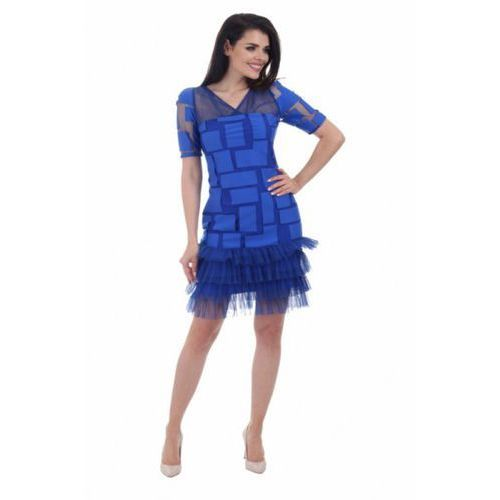 Sukienka wizytowa model 884 blue, Margo collection