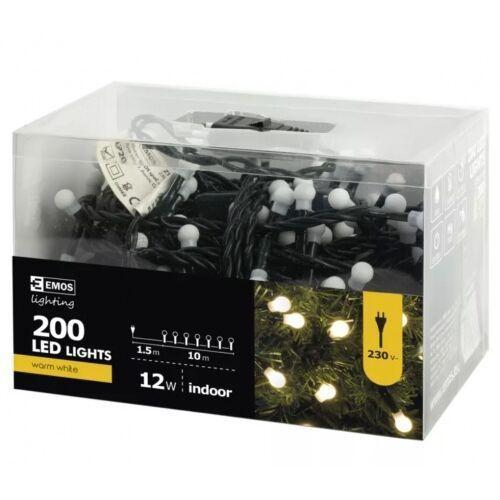 Emos Zyk0208 lampki choinkowe xmas zyk led na kabel biały ciepły 200szt zyk0208