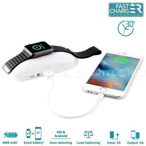 PURO Dual iPower - Mobilna stacja Apple Watch & iPhone 4000mAh (funkcja powerbank) - produkt z kategorii- Ładowarki do telefonów